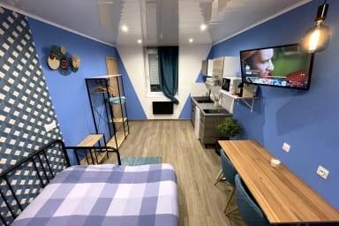 """Appart Hotel """"Capsule Color bleue 5"""" à Valenciennes"""